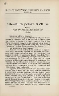 Literatura polska XVII. w.