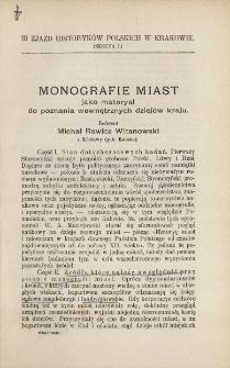 Monografie miast jako materyał do poznania wewnętrznych dziejów kraju