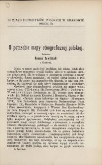 O potrzebie mapy etnograficznej polskiej