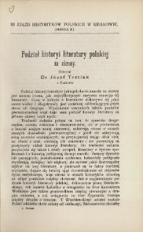 Podział historyi literatury polskiej na okresy