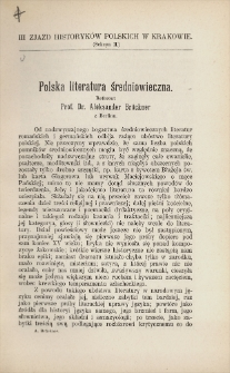 Polska literatura średniowieczna