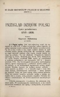Przegląd dziejów Polski : epoka porozbiorowa : 1795-1830