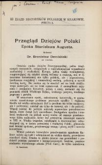 Przegląd dziejów Polski : epoka Stanisława Augusta