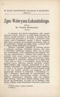 Zgon Waleryana Łukasińskiego