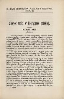 Żywioł ruski w literaturze polskiej