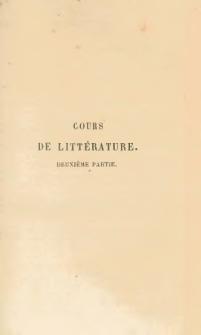 Cours de littérature conforme au plan d'études des lycées. Pt. 2, Précis historique des littératures grecque, latine et française