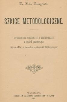 Szkice metodologiczne