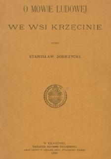 O mowie ludowej we wsi Krzęcinie
