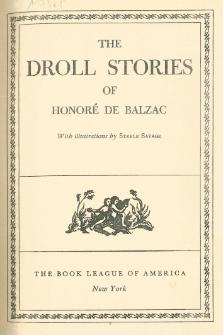 The droll stories of Honoré de Balzac