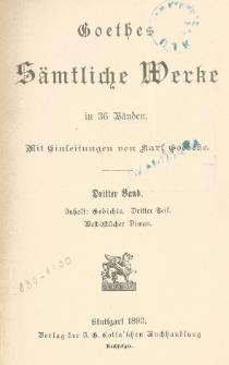 Goethes sämtliche Werke in 36 Bänden. Bd. 3
