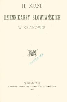 II. Zjazd Dziennikarzy Słowiańskich w Krakowie.