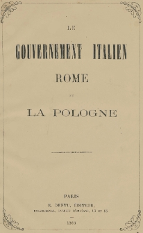 Le gouvernement Italien : Rome et la Pologne