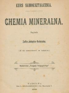 Chemia mineralna : kurs samokształcenia