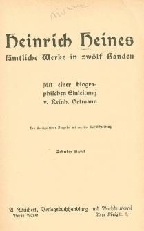 Heinrich Heines sämtliche Werke : in zwölf Bänden. Bd. 10-12