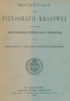 Materyały do fizyografii krajowej