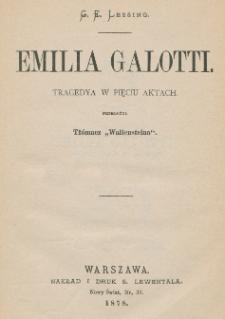 Emilia Galotti : tragedya w pięciu aktach