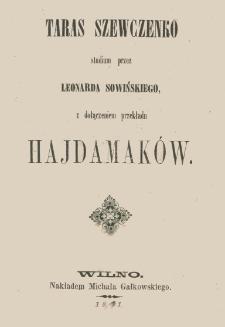 Taras Szewczenko : studium
