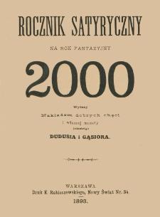 Rocznik satyryczny na rok fantazyjny 2000