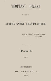 Teofrast polski. T. 1