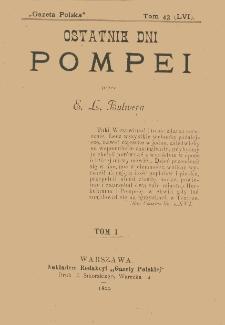 Ostatnie dni Pompei. T. 1