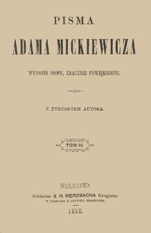 Pisma Adama Mickiewicza. T. 3