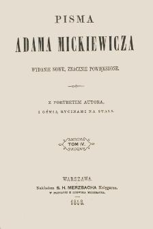 Pisma Adama Mickiewicza. T. 4