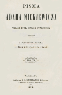 Pisma Adama Mickiewicza. T. 7