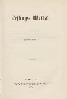 Lessings Werke : mit Einleitungen und Lessings Lebensbeschreibung. Bd.2