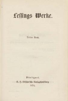 Lessings Werke : mit Einleitungen und Lessings Lebensbeschreibung. Bd.3