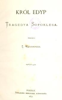 Król Edyp : tragedya Sofoklesa