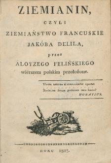 Ziemianin, czyli Ziemianstwo francuskie Jakóba Delila