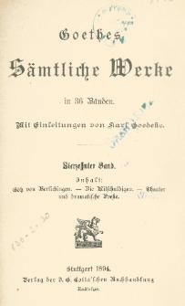Goethes sämtliche Werke in 36 Bänden Bd. 14