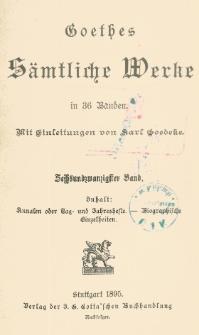Goethes sämtliche Werke in 36 Bänden Bd. 26