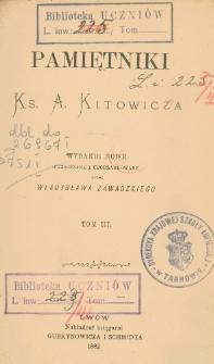 Pamiętniki ks. A. Kitowicza T. 3
