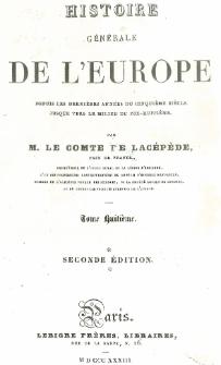 Histoire générale de l'Europe depuis les dernières années du cinquième siècle jusque vers le milieu du dix-huitième T. 8