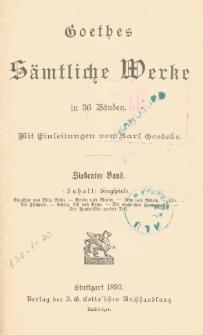 Goethes sämtliche Werke in 36 Bänden Bd. 7