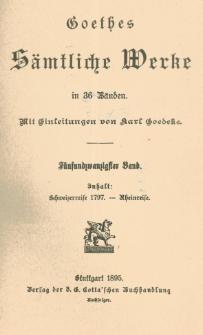 Schweizerreise 1797 ; Rheinreise