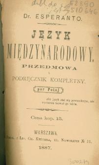 Język międzynarodowy : przedmowa i podręcznik kompletny : por Poloj