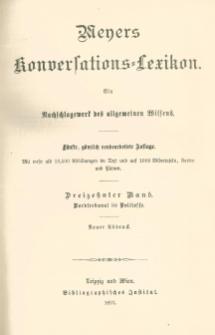 Meyers Konversations-Lexikon : ein Nachschlagewerk des allgemeinen Wissens. Bd. 13 : Nordseekanal- bis Politesse