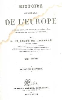 Histoire générale de l'Europe depuis les dernières années du cinquième siècle jusque vers le milieu du dix-huitième T. 6