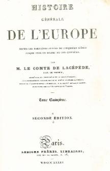 Histoire générale de l'Europe depuis les dernières années du cinquième siècle jusque vers le milieu du dix-huitième T. 15
