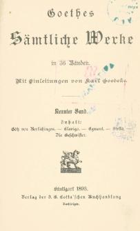 Goethes sämtliche Werke in 36 Bänden Bd. 9