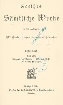 Goethes sämtliche Werke in 36 Bänden Bd. 11