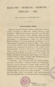 Działania wodza, rad wojennych, parlamentarzy, prezesa rządu i sejmu : od 8 września do 4 października 1831 r.