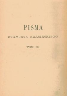Pisma Zygmunta Krasińskiego T. 3