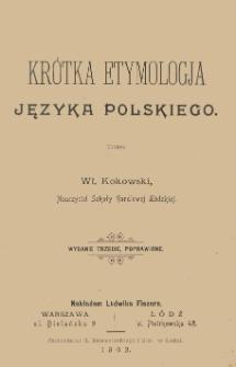 Krótka etymologja języka polskiego