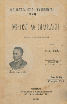 Miłość w opałach : powieść z dziejów Kroacyi. Cz. 2