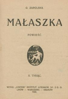 Małaszka : powieść