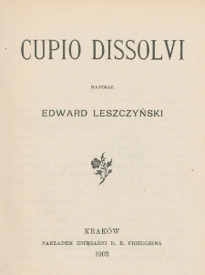 Cupio dissolvi