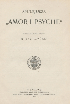 "Apulejusza ""Amor i Psyche"""